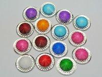 Wholesale Rivoli 18mm - 50 Mixed Color Acrylic Flatback Round Rivoli Rhinestone Gems 18mm Pyramid Center