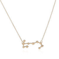 Wholesale october party - 10pcs lot 2015 Scorpio Zodiac Sign Astrology Necklace Constellation Pendant Necklace for October, November Birthday XL158