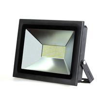 ingrosso pareti luminose-Spotlight LED luminoso eccellente proiettore 100W 60W 30W 15W LED con riflettore della luce di inondazione 110V 220V parete impermeabile esterna lampada da giardino Proiettori