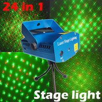 Gros-HOT 24 en 1 Mini laser tête mobile Laser éclairage LED Light Moving étape projecteur DJ Disco boule magique équipem Xmas Afficher