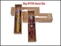 Wholesale Artist Yellows - Christmas Map EVOD Kit E Cigarette Electronic Cigarette Kit Map MT3 Atomizer Map EVOD 650mah 900mah 1100mah Battery Artist Design Gift Box