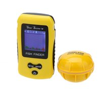 Portatile Display LCD Wireless Fish Finder Pesca di profondità Sonar Sensor Allarme pesce trasduttore Finder colori Fishing Lure Strumento
