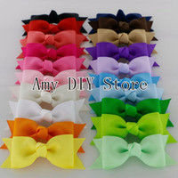 """Wholesale Headbands Free Ems - EMS Free Shipping!1000pcs lot 3.6""""Double Layers Grosgrain Ribbon Hair Bow,Pinwheel Cheer Bows WITHOUT Clips For Hair Accessories HJ046"""