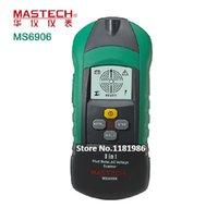 Wholesale Metal Thickness Tester - Wholesale-MASTECH MS6906 3 in 1 Multi-function Stud Metal AC Voltage Scanner Detector Tester Thickness Gauge w  NCV Test