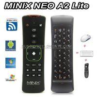 support de la télécommande usb pc achat en gros de-Mini clavier sans fil MINIX NEO A2 Lite Air Mouse 2.4 Ghz Gyroscope Gaming Support Télécommande pour X8H Plus Android TV Box Smart Mini PC