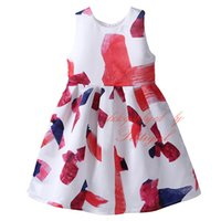 Pettigirl Hot Selling Girls Flower Dress Impresso com estilo floral Qnigirls Kids A-Line Dress Wholesale Baby Clothes DMGD81104-146Z