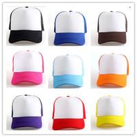 Wholesale Golf Mesh Hat - Fashion Unisex Mens Women Trucker Half Mesh Hat Summer Snapback Golf Baseball Sun Cap Hats Gift