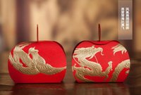 Wholesale dragon phoenix wedding - Wedding Favors Boxes Chinese Style Dragon Phoenix Candy Box Party Favors Paper Candy Boxes Gift Boxes Chocolate Boxes Wedding Supplies
