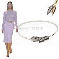 Wholesale Decorative Chain Metal Belt - Hot!! Skinny Elastic Personalized Luxury Women Metal Belts Bright Maple Leaf Chain Belt Decorative Iron Straps