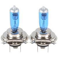 Wholesale H4 12v - 100W 6000K 12V Super White 2x H4 Halogen Xenon Light bulb lamp Power saving long service life CEC_484