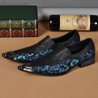 Wholesale Comfort Shoes Pump - 2016 Spring Shoes US Size 5-12 New Comfort geniune Leather Formal Dress Loafer Mens Fashion Shoe Pointed Toe wedding dress shoes