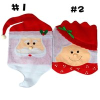 Wholesale used christmas decorations - Lovely Christmas articles for use Chair Covers Ornaments Mr & Mrs Santa Claus Christmas Decoration