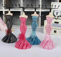 Wholesale Mannequin Dressed - Dot Dress Mannequin Doll Rack holder Necklace Earring Ring Organizer Jewelry Display Stand Wedding Decorations Favours