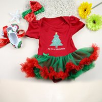 Wholesale Girl Party Dress Pattern Free - Wholesale-2015 New Fashion XMAS Baby Party Dress Set Newborn Baby Girl Dresses Tree Pattern Clothing Set Party Baby Dress Free Shipping