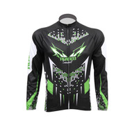 siyah uzun kollu bisiklet formaları toptan satış-Sonbahar adamın Siyah Ve Yeşil Uzun Kollu Bisiklet Jersey + Uzun Pantolon Veya Bisiklet Dağ Forması Setleri D018