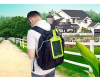 Wholesale Solar Power For Camping - Tree Solar Charger Outdoor Camping Travel Mobile Phone Solar Panel Power Battery Solar Powered Backpack Charger Free Shipping