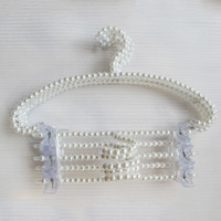 Wholesale beautiful clothes woman for sale - pearl beaded hanger can anti slip hanging women clothes and it very beautiful