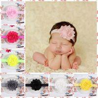 ingrosso banda dei capelli del bambino-Accessori per capelli Per neonato Baby Lace Big Flower Pearl Princess Babies Girl Hair Band Fascia Baby's Head Band Kids Hairwear