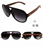 Wholesale Eyewear Wood Temples - Hot Sell Wood Sunglasses Designer Natrual Bamboo Sunglass Eyewear Glasses Style Hand Made WoodeAn Temples Plastic FrameZy00010