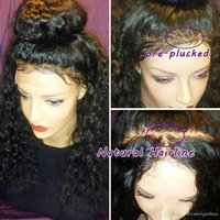 Wholesale Short Wig Cap - Pre Plucked 360 Lace Frontal With Wig Cap Brazilian Loose Deep Curly Frontal Natural Hairline 360 Lace Virgin Hair (18inch, Loose curly)