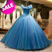 Wholesale Gorgeous Skirt - 2016 Gorgeous Romantic Princess Wedding Dresses Puffy Tulle Skirt Off the Shoulder Cinderella Real Ball Gowns Wedding Dresses Plus Size 2015