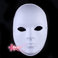 DIY Blank Venice Masquerade Party Mask Full Face Papel Pulp White Environmental Fine Art Painting Masks 10pcs / lot