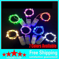 Wholesale Wholesale Mini Led Light String - 2M 20LEDs CR2032 Battery Operated Micro Mini LED String Light Copper Silver Wire Starry Light String For Decoration