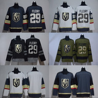 Wholesale Red Gray Hockey Jersey - 2017-18 New Style 29 Marc-Andre Fleury Jersey Sale Vegas Golden Knights Ice Hockey Jerseys Fleury Sports Uniforms Team Gray Road White