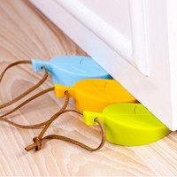 Wholesale Safety Gate Door - Leaves style security gate card baby clip silica gel door stopper thickening windproof bumper gate resistance door stopper