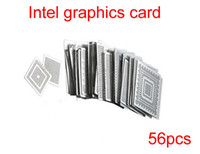 Wholesale Cheap Mig - Free Shipping! hot sale product cheap Intel video chips Direct Heat Stencils 56pcs,directly heating stencil