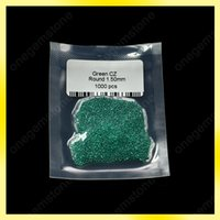 Wholesale Settings For Jewellry - Emerald color zirconia 1.5mm green color round bead use for jewellry wax setting