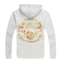 Wholesale Multi Zipper Hoodies - 14 Styles New Men Robbin Hoodie New York Designer Sweatshirt Robin Coat Size M-3XL Hot Selling Red Black White Long Sleeve Fashion hoodies