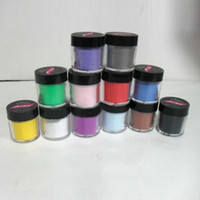 Wholesale Acrylic Color Powder Jumbo - Wholesale-12 Color Acrylic Jumbo size UV Powder Polish Nail Art Kit Decorate Set