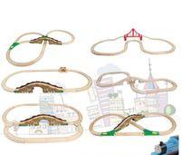 petits jouets en bois achat en gros de-Chenille en bois pour jouets de trains 8 Styles en train de chemin de fer Tomas and Friends en bois de hêtre