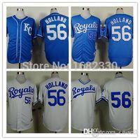 Wholesale New Holland Stopping - 2016 New #56 Greg Holland Jersey Kansas City Royals Shirt Cheap Authentic Sports Baseball Jerseys Embroidery Logos Size M-XXXL Free Ship