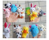 Cartoon Finger Puppet Peluches Brinquedos Crianças Favor Dolls Baby Plush Toy Finger Puppets Tell Story Props Presentes de Natal Frete Grátis