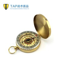 outside tap - Tap outside sport compass belt car keychain compass luminous waterproof button
