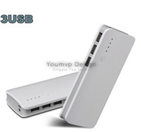Wholesale Iphone Torch - 20000mAh Power bank 3 USB Port with LED Torch Power Bank Cellphone Charger for Samsung iphone JJD1649