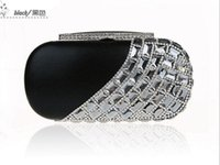 Wholesale Handmade Silk Handbags - Women Fashion Handmade Perfect diamond Geometric Rhinestone Beads Ring clutch bags Handbag purse Evening Bag banquet 0430