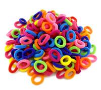 Wholesale Wholesale Pony Charm - Wholesale 500 Pcs Colorful Child Kids Hair Holders Cute Rubber Bands Hair Elastics Accessories Girl Women Charms Tie Gum