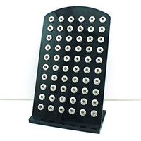 ingrosso visualizzazione di gioielli acrilici-Display ad alta quantità Stand Fashion 12mm Snap Button Nero acrilico Interchange Jewelry Metal Display Case Board