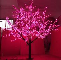 restaurante abierto luz de neón al por mayor-1536LEDS 200 cm al aire libre llevó la luz del árbol de la flor de cerezo para la navidad led luces del árbol de navidad decoración LLFA