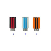 Wholesale stainless steel e cigarette mod for sale - Group buy Bumblebee Design Stainless Steel Streak Drip Tip Wide Bore Drip Tips for EGO Subtank Atomizer Mouthpiece RDA RBA E Cigarettes Mod