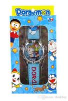 Wholesale Doraemon Girls Watches - Free shipping 2015 HOT Doraemon box watch kids fashion quartz cartoon Jelly Candy led with box Cute Lovely Girl 20 pcs 0501#