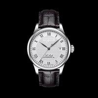Wholesale Yellow Sapphire Bracelet - Reloj Homb Fashion steel band Watch Brand Men Leather watch Classical Bracelet Mechanical Watch Automatic Sports Watches Black dial calendar