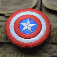 LOGO gros-Captain America Avengers bouclier brodé film Iron On Patch Emo Goth Punk Rockabilly timbre personnalisé disponibles 00728