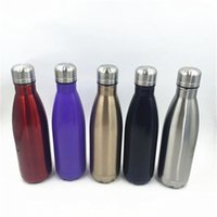 Wholesale insulation prices - Cola Shaped Water Bottle ml Double Wall Stainless Steel Color Cool Water Bottles Direct Factory Price