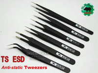 Wholesale Watch Ts - Japanese RHINO TS Serial Tweezers ESD (Electro-Static discharge) High-precision Super Hard For Jewelry Processing, Repairing Watch or Mobile