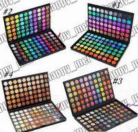 make-up-logos kostenlos großhandel-Fabrik-direktes DHL-freies Verschiffen-neues Berufsmake-up mustert kein Logo 120 Farben-Augen-Schatten-Palette! 4 verschiedene Farben