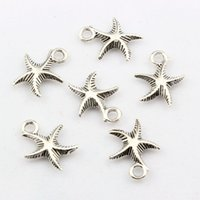 Quente! 150pcs Antique Antique Silver Alloy Star Pendant Pingente 13 x 16 mm DIY Jewelry